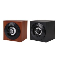 1Pcs Wooden Speaker HA-08 USB 2.0 Household Mini Stereo Speaker Computer Subwoofer for Laptop Notebook PC Computer Speakers