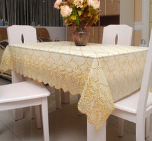 European hot water and oil proof heat resistant PVC plastic disposable rectangular table tablecloth table cloth