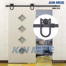 KIN MADE MM-20X 4.1FT-8FT Horseshoe Design Barn Door Hardware Wooden Sliding Door Track Kits-Free Shipping