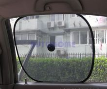 1 Pairs X Foldable Black Side Window Screen Suction Cup Mesh Car Cover Sun Shades For Car 1 pair=2pcs(China)