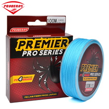 100M Fishing Line PRO BEROS Brand Red / Green / Grey /Yellow/Blue braided fishing line available 6LB-100LB PE Line Red Package(China)