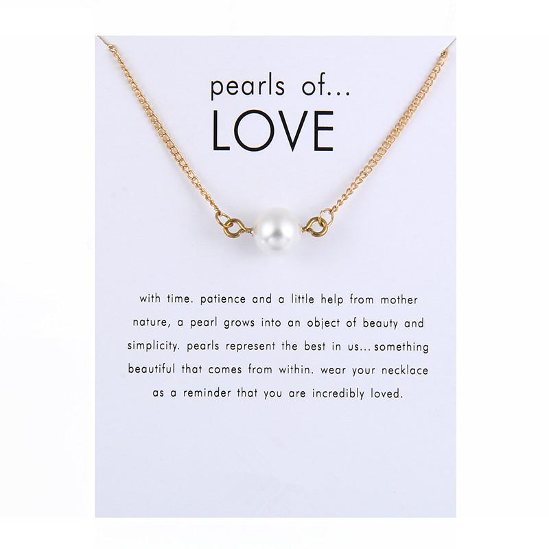 HTB1.2mlRVXXXXbKXVXXq6xXFXXXm - New Arrived Fashion Jewelry Pearls of Love Simulated Pearl Necklace For Women
