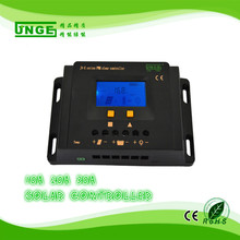 JNGE Power 10-30A PWM solar charge controller 12v/24v auto LCD display timer and light control with 5v USB full protection(China)