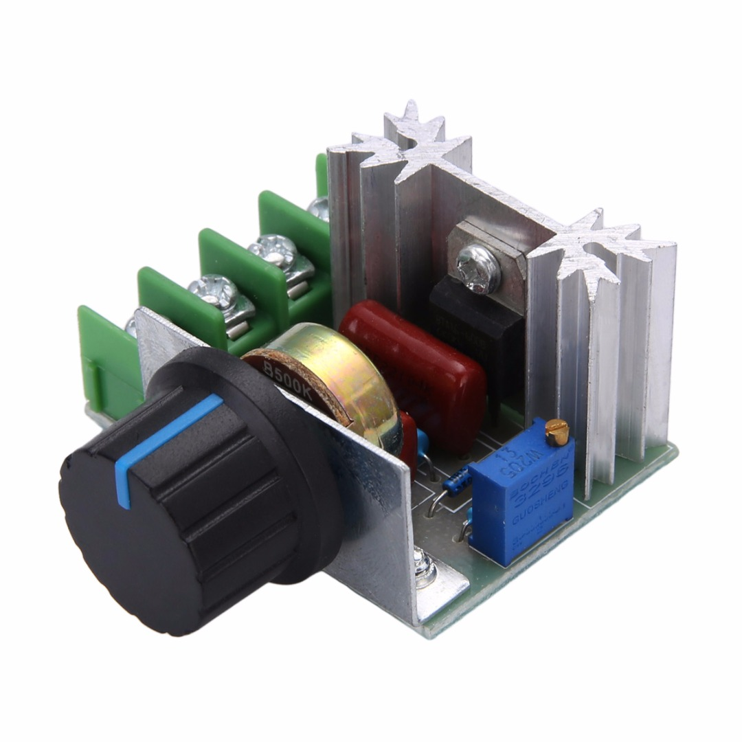 High Power Electronic SCR Voltage Regulator Module AC 50-220V 2000W Motor Dimmers Controller Knob Switch Speed Control Tool