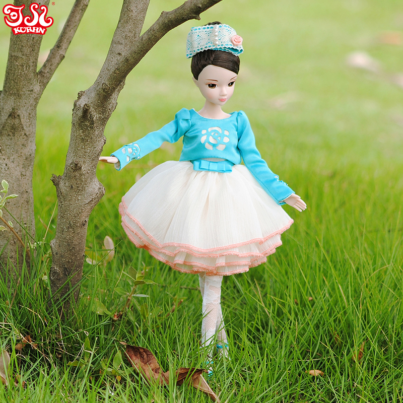 Free shipping 29cm11 a pure heart and spirit Lady Doll White muscle Mini dress Kurhn doll Set Gifts for girls Home accessories<br><br>Aliexpress
