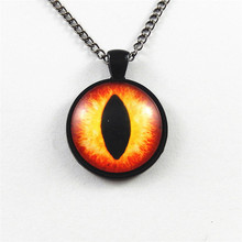 Julie Wang New Brand Fashion Private Design Long Chain Necklace Women Lady Jewelry Personality Dragon Eye Stone Pendant Necklace