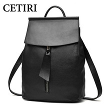 CETIRI Woman Backpack Fashion 2017 Designers Spanish Brand School Bag Student Soild Backpacks Black Bolso Mochila Mujer Pequeno