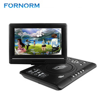 FORNORM DVD Player 9.8 inch LCD Display 270 Degree Totatable Swivel Screen Portable DVD Game Player SVCD CD CD-R/RW MP3 MP4(China)