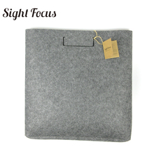 Sight focus Brand Eco friendly tablet bag Lightweight Large Capacity Grey Felt Tote Bag Big Size Cut Soft Document magazine Bag(China)