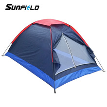 Sunfield Camping Tent for 2 Person Summer Outdoor Camping Tent for Hiking Backpacking Fishing Tourist(China)