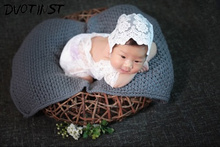 Newborn Baby Cute Photography Props Lace Black White Romper Playsuit Fotografia Accessories Infant Toddler Studio Shoot Photo(China)