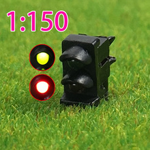 JTD1501 5PCS railway modeling N scale LEDs made Dwarf Signals for Railway signal 2-3 Aspects Model Traffic Lights Traffic singal