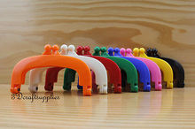 10mm x 5mm glue on bag purse frames clasp resin colorful 8 colors to choose