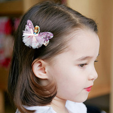 New Fashion Princess Butterfly Hair Clips Lovely Cartoon Bowknot Hairpins For Kids Girls Headwear Hair Accessories Barrettes