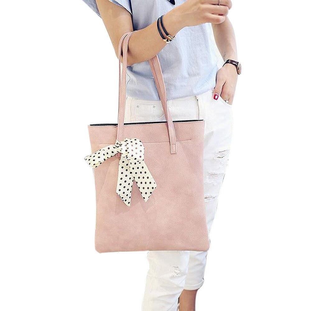 2017 Casual Women Shoulder Bag Simple Parent-child models PU Leather Female Tote Bags Cross Body Messenger Handbag Large bag<br><br>Aliexpress