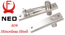 NED High Quality Stainless Steel 304 Door Hinge 130x25mm 105x25mm Pivot Hinge 360 Degree Install Up and Down For One Set(China)