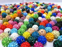 10mm 100pcs/lot Mixed color in random Micro Pave Disco Ball Crystal Shamballa Beads.jewerly making bead Lot!Bracelet DIY jewelry