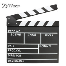 KiWarm Bigger Size Film Director Clapper Board Wooden Props DIY Materials Video Scene Clapperboard Movie Film Action Cut Prop(China)