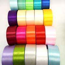 R019 40mm 20 color choose 25 Yards Silk Satin Ribbon Wedding Decorative Ribbons Gift wrap DIY Handmade Materials(China)