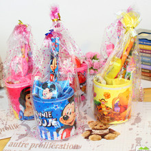 10 sets/lot Pencil holder ruler sharpener eraser stationery set students birthday gift prize Mickey Kitty Spongebob Princess car(China)