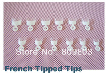 Freeshipping - 600 tips Medium White french nail wrap tips / French Tipped tips(China)