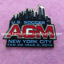 Customized Imitation hard enamel pin for 2014 NEW YORK CITY SOCCER AGM
