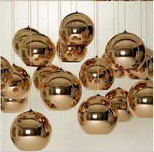 Modern simple round lamp ball lamp glass chandelier double staircase lamp table lamp bar electroplating ball round chandelier