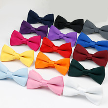 Mens Bow Tie Flexible Bowtie Smooth Necktie Soft Matt Butterfly Decorative Pattern Solid Color Ties