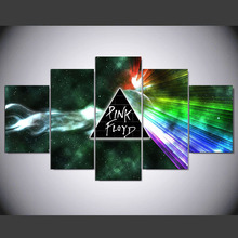 5 panels printed Pink Floyd rock music canvas painting for wall art bedroom home decoration poster fashion artwork ny-784