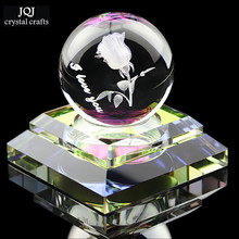 K9 Crystal Glass 3D Laser Engraved Ball Perfume Bottle Fengshui Perfums Air Freshener Perfumes Bottles For Car Home Decoration