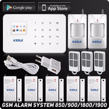 Kerui G18 Wirelss GSM  Home Alarm System Autodial Android ISO Iphone App Control TFT Touch Panel Motion Sensor Door Sensor