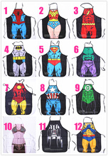 wholesale Free Shipping 100 Party Product Funny kids  Apron Costume Apron Cooking  Party Apron batman superman ironman spiderman