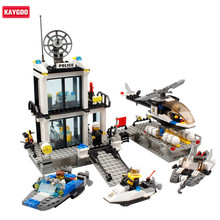 Kaygoo Building Blocks bus Police Station truck City Plane ship Kids Children Toys Compatible With Legoes Xmas Gifts for Kids