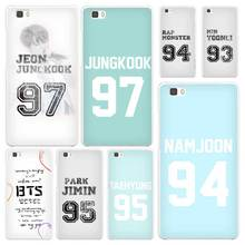 Bangtan BTS Number White Coque Shell Case Cover Phone Cases for Huawei P7 P8 P9 P10 Lite Mate s 7 8 9(China)