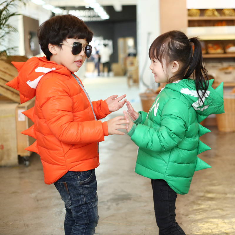 2015 new winter childrens boys and girls down jackets short coats paragraph small baby Tyrannosaurus Rex Kids DownОдежда и ак�е��уары<br><br><br>Aliexpress