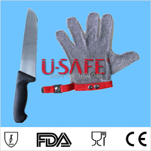 Hot Sale Item U Safe brand 304L personal protective equipment industrial safety gloves metal mesh glove(China)