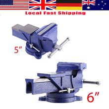 "5"" 6"" Engineer Vice Vise Swivel Base 360Degree Workshop Clamp Jaw Work Bench Table(China)"