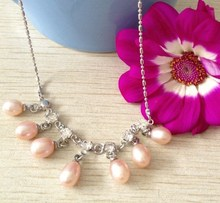 3 COLOR! Charmful Fashion Freshwater Pearl Necklace Chain Hot Cheap Jewellery Female Lady Jewelry