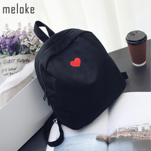 Meloke 2018 fashion women canvas backpacks lovely embroidery travel backpacks girls school bags teenagers MN553