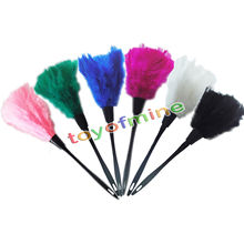 Anti Static Natural Fall Multi Turkey feathers Duster Brush Plastic handle Household Cleaning Car Fan Furniture Dust Cleaner(China)
