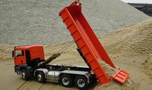 4 axis Engineer Hydraulic roro unloading hopper bucket Cargo 1/14 Scale MAN R/C Tractor RC 8x8 Dump Truck RTR Ready To Run 9ch(China)
