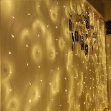 Led Curtain Lights 3m3m 300 LED 8 Modes Window Curtain Icicle Lights for Weeding Bedroom Christmas deco(China)
