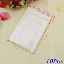 10Pcs / Lot 130*110mm White Pearl Film Bubble Envelope Courier Bags Waterproof Packaging Mailing Bag