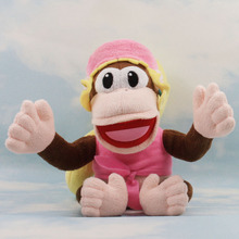 Free Shipping 1pcs Cute Super Mario Bros Dixie Kong Plush Dolls Toy 18cm New diddy kong sister(China)