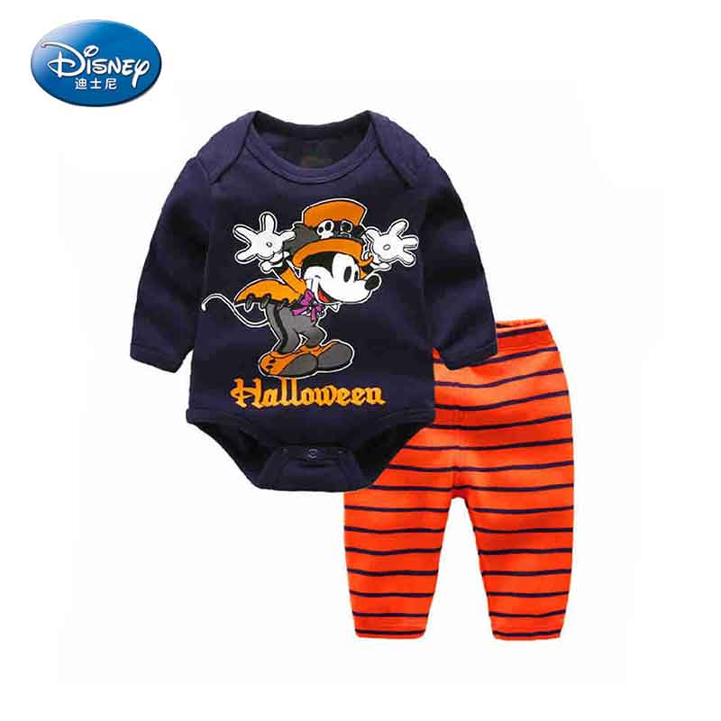 Disney  2pcs/set Baby Suits Sets Fashion Autumn Bodysuits+Pants Pure Cotton Clothes Mickey Donald Duck Cute Cartoon Cloth set<br>