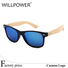 China cheap hot selling handmade custom logo with bambu temple plastic frame bamboo leg sun glasses