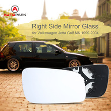 White Car Style Right Side Mirror Heated Glasses for Volkswagen VW Jetta Golf MK4 1999-2004(China)