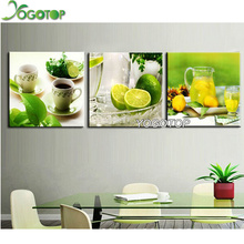 Fashion 3D diamond embroidery lemon cup diy diamond painting kit handwork full resin diamonds with picture triptych NW381