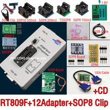 12-Adapters Clip ISP SOP8 Original RT809F IC LCD VGA