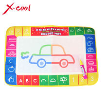 2 types 45 X 29 cm 4 color Doodle Mat with 1 Small Magic Pen / Water Drawing Mat / Water painting rug Learning mat